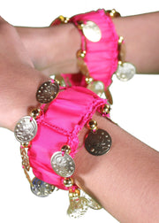 Belly Dance Coined Wrist Bands | WRIST JINGLE