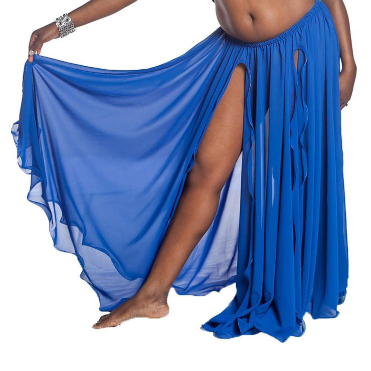 Belly Dance Dual Slit Chiffon Skirt | CHIC CHIFFON TWO