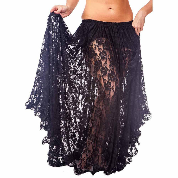 Belly Dance Full Circular Lace Skirt | ROSEIH
