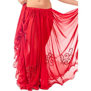 Belly Dance Full Circular Sequined Chiffon Skirt | SEQUINED PANEL