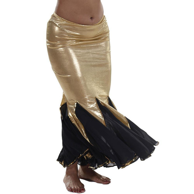 Belly Dance Glossy Lycra Mermaid Skirt