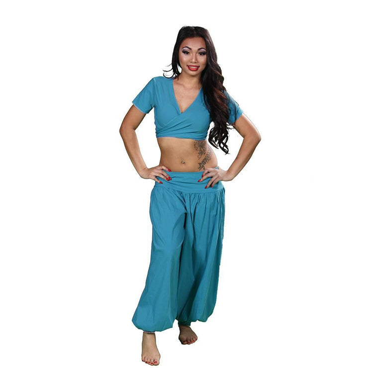 Belly Dance Harem Pants & Choli Top Costume Set | THE BELLY BASIC