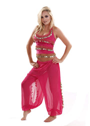 Belly Dance Harem Pants & Halter Top Costume Set | SADIQA II