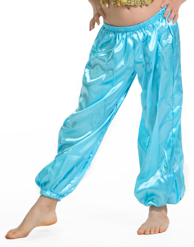 Belly Dance Kids Satin Harem Pants |  SHINE ON