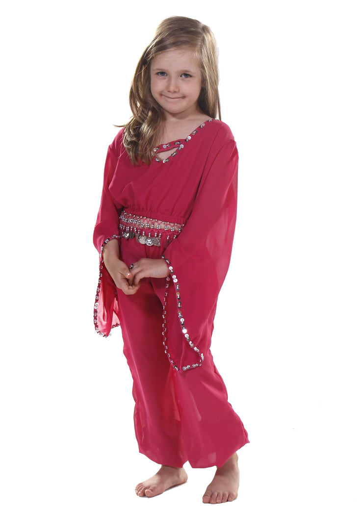 Belly Dance Kids Top & Harem Pants Costume Set | JUNIOR RAQS