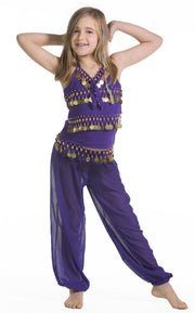 Belly Dance Kids Top & Harem Pants Costume Set | RAQUIN RIGHT