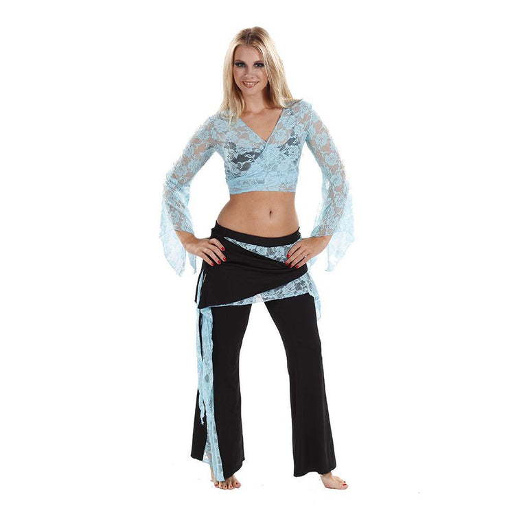 Belly Dance Lace Top & Lycra Pants Costume Set | LOVE IT LACED