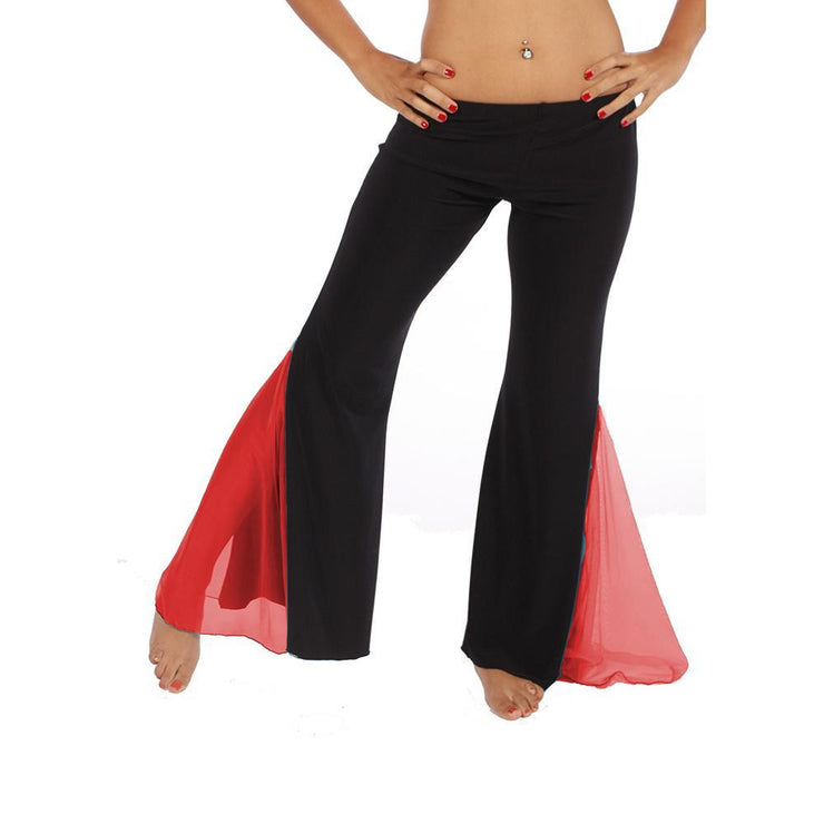 Belly Dance Lycra Harem Pants With Chiffon Slits | GET UP GLAMOROUS