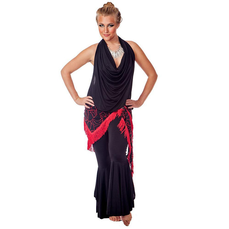 Belly Dance Lycra Top, Pants, & Hip Scarf Costume Set | VEBA RAQS