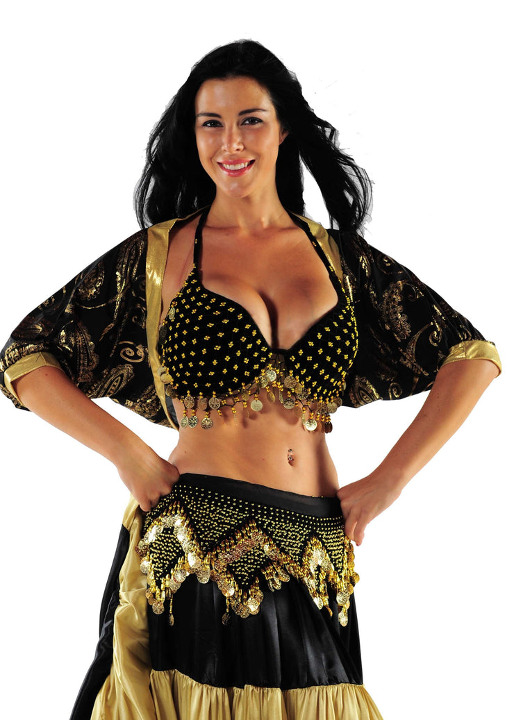 Belly Dance Lycra Valero Top | Pera Sleeves