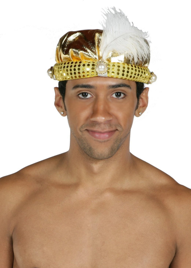 Belly Dance Men's Feather Cap | AL ADIN'S WISH
