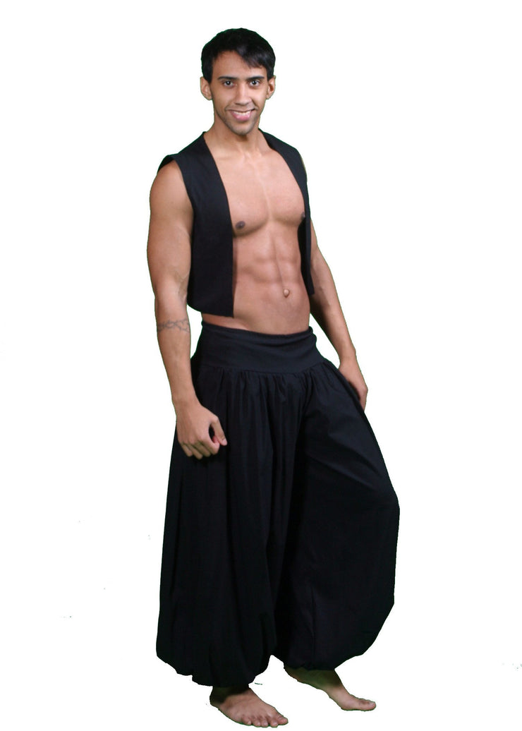 Belly Dance Men's Harem Pants & Vest Costume Set | RAQS IS THE NIGHT