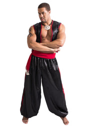 Belly Dance Men's Harem Pants, Vest & Hip Scarf Costume Set | MAGNIFICENT MAN