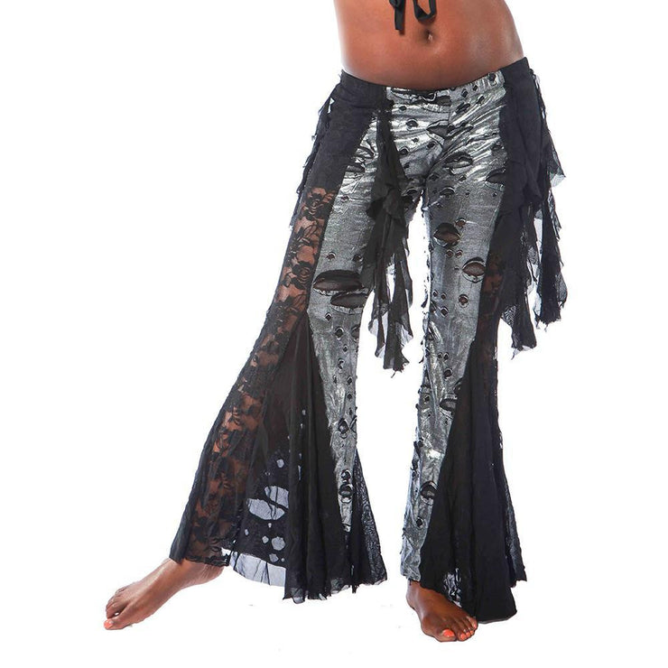 Belly Dance Metallic & Lace Harem Pants | URBAN SHIMMER