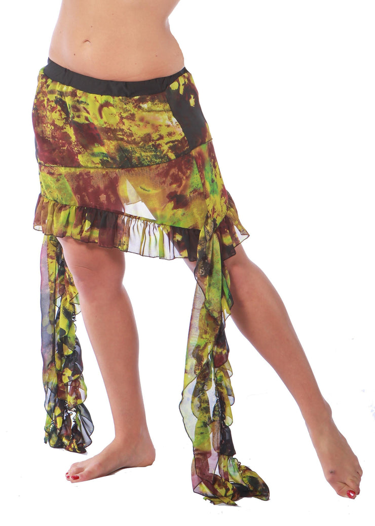 Belly Dance Multi Pattern Skirt | TJADA FRINGE AND TIES