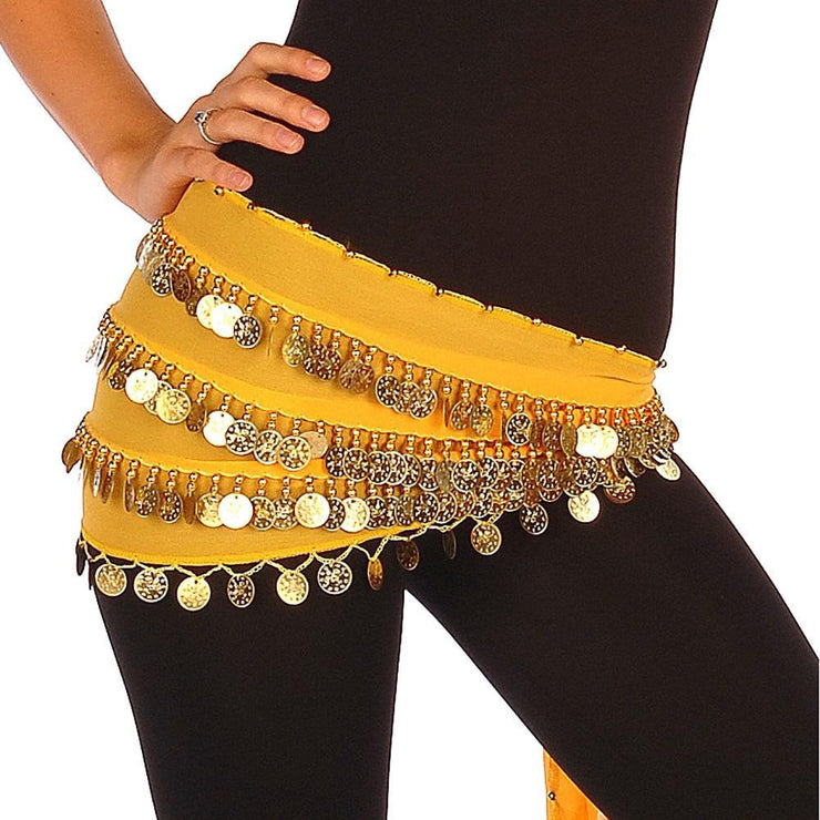 Belly Dance Multi-Row Chiffon Hip Scarf | THE YASMINA