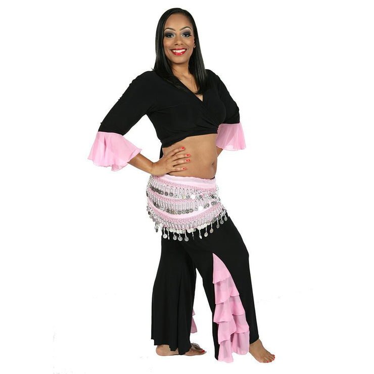 Belly Dance Pants, Choli Top, & Hip Scarf Costume Set | CEBU WISH