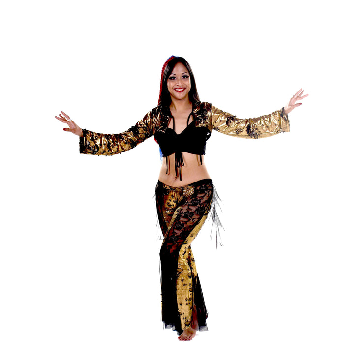 Belly Dance Pants, Hoodie, & Top Costume Set | URBAN SHIMMER RAQS