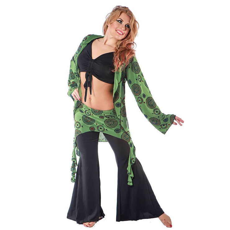 Belly Dance Pants, Hoodie, Top & Hip Scarf Costume Set | PERA SHALA