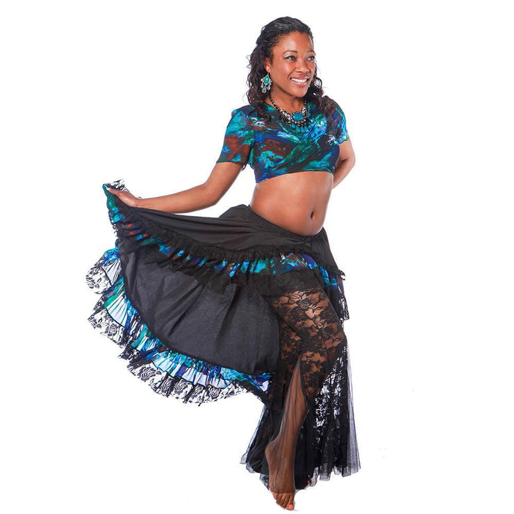 Belly Dance Pants, Skirt, & Top Costume Set | LACE AND FLAIR