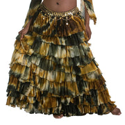 Belly Dance Patterned Ruffled Skirt | LA ROSA LEEHA