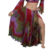 Belly Dance Patterned Skirt with Slit | SHEER SHOWTIME