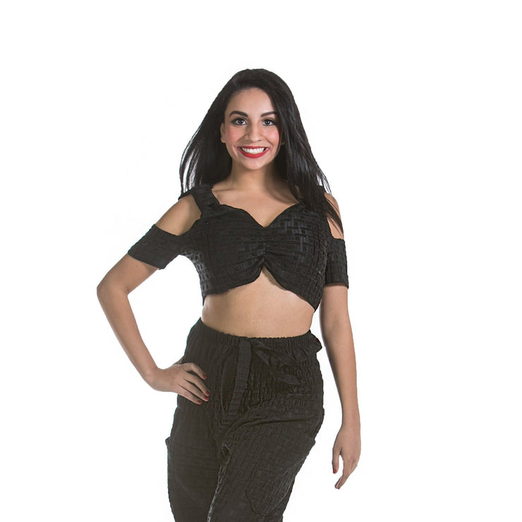 Belly Dance Patterned Top with Should Cut-Outs | MODERN MASRI