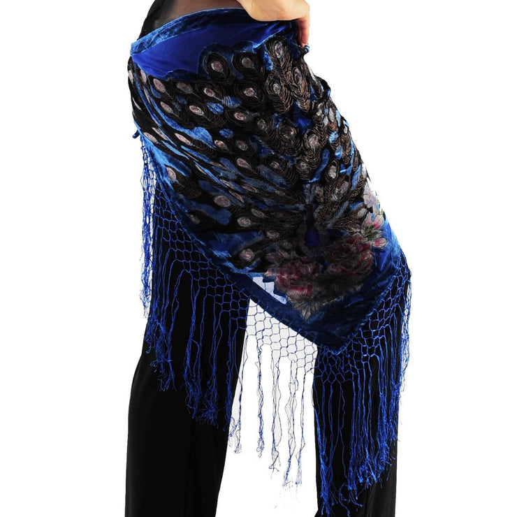 Belly Dance Peacock Hip Scarf | PARSI-BOLO