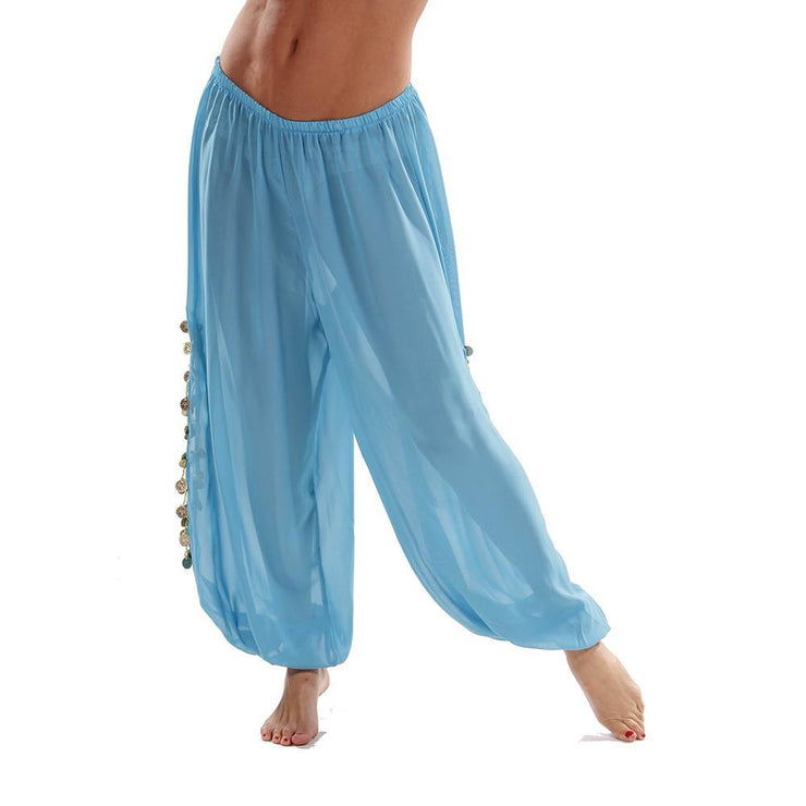 Belly Dance Plus Size Chiffon Harem Pants with Side Slits | MAIDEN DANCE PLUS