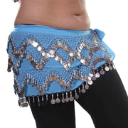 Belly Dance Plus Size Chiffon Triangular Pattern Hip scarf | THE WINDING WINDS