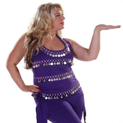 Belly Dance Plus Sized Lycra Stretchy Halter Top | FESTIVE
