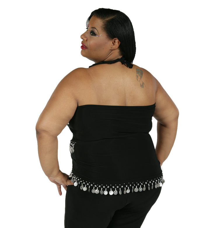 Belly Dance Plus Sized Lycra Stretchy Tank-Top | KARSILAMA