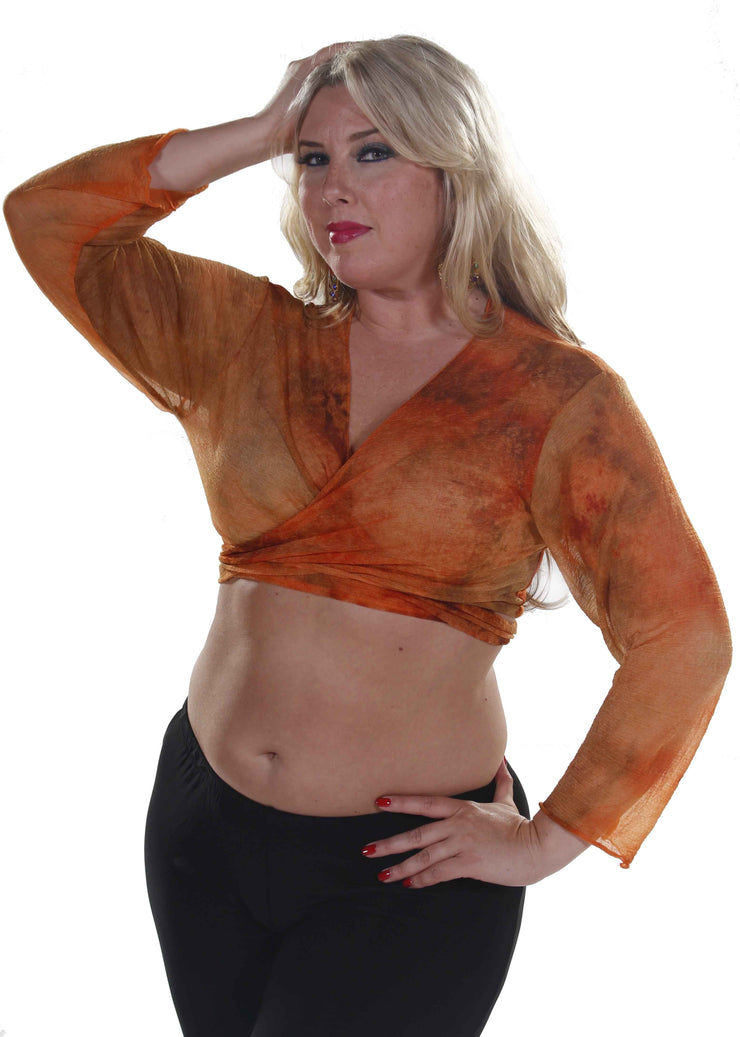 Belly Dance Shear Long Sleeve Choli Top | Pera Mosaics 2