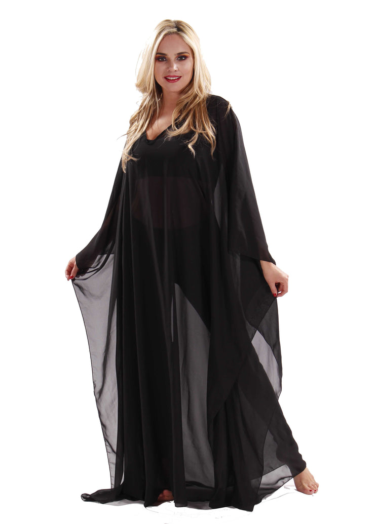 Belly Dance Shear Solid Color Chiffon Kaftan | EASTERN THROBE