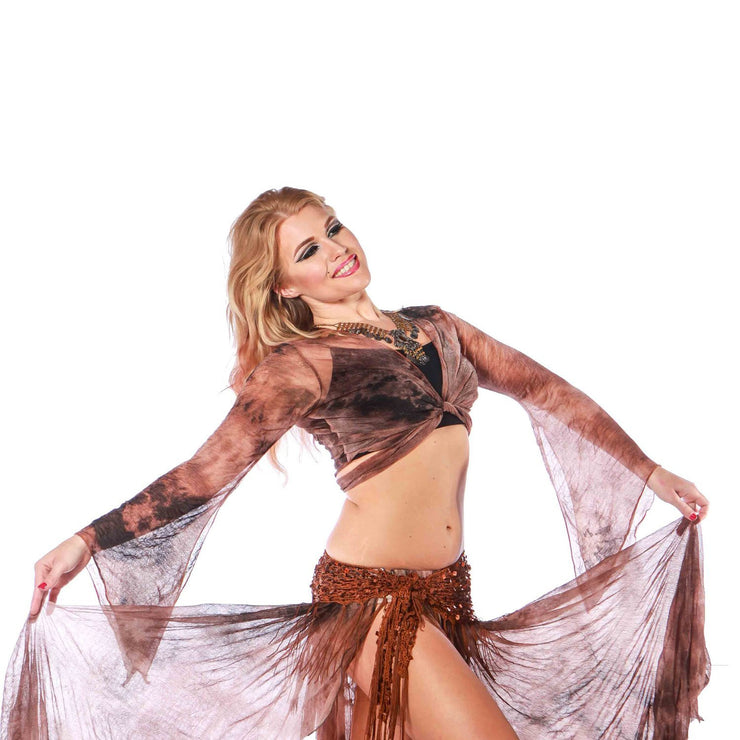 Belly Dance Sheer Pattern Choli Top | D'OR ANDA
