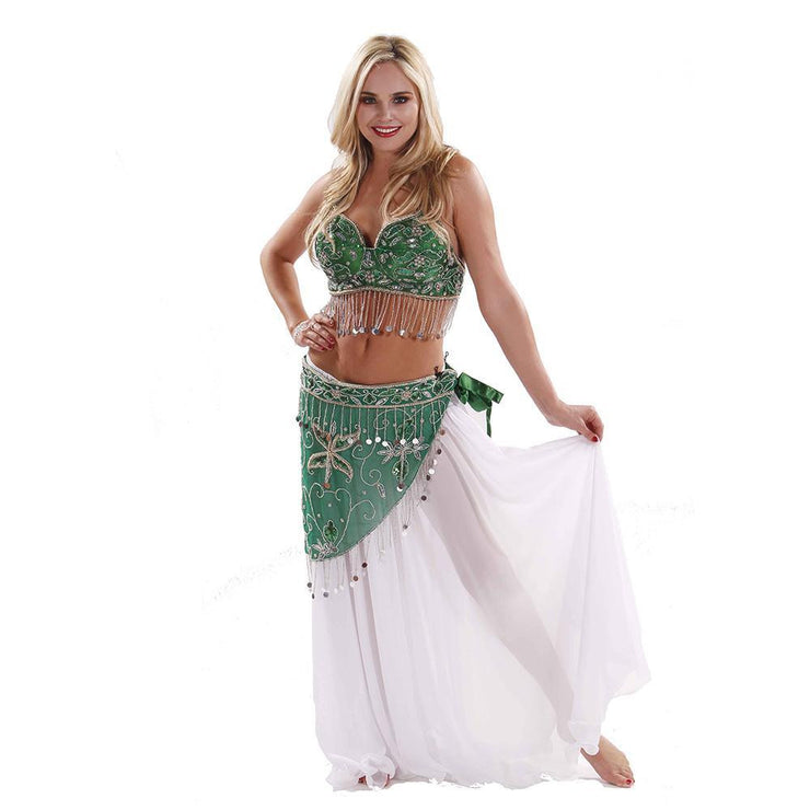 Belly Dance Skirt, Bra, & Belt Costume Set | AZUL BANTE