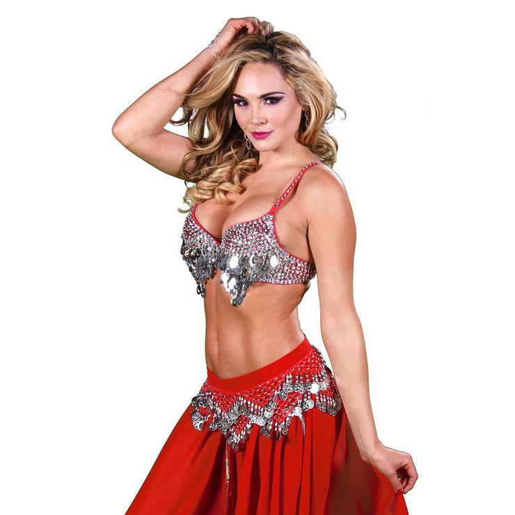 Belly Dance Skirt, Bra, & Hip Scarf Costume Set | GOLDEN GLOWS