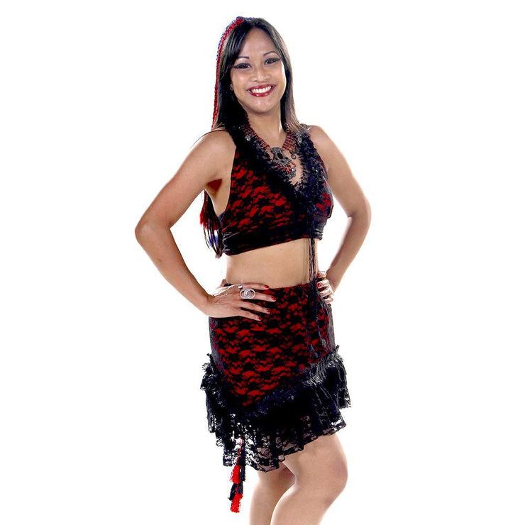 Belly Dance Skirt & Halter Top Set | PERA TRIBES/MACAESMA