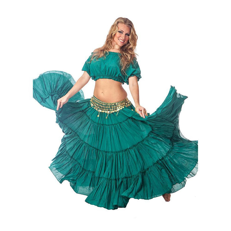 Belly Dance Skirt, Top, & Coin Belt Costume Set | SPINNING SPIRIT