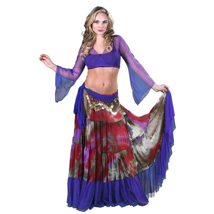 Belly Dance Skirt, Top, & Hip Scarf Costume Set | CYPRUIA