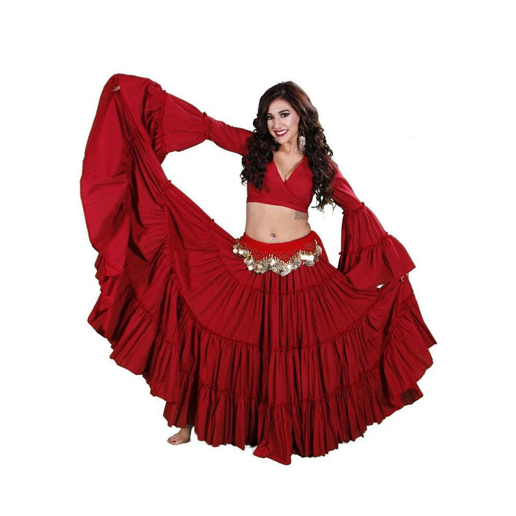 Belly Dance Skirt, Top, & Hip Scarf Costume Set | ESMA II