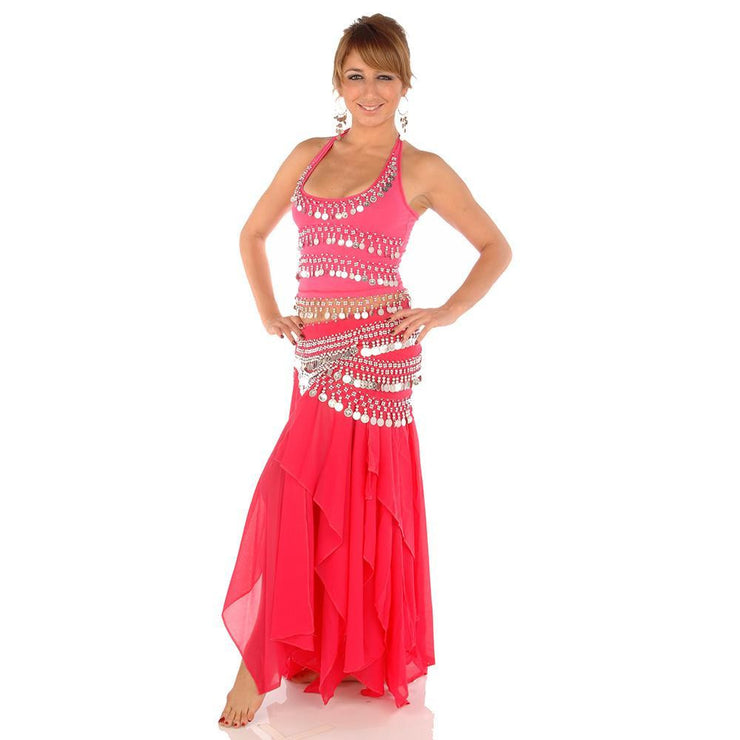 Belly Dance Skirt, Top, & Hip Scarf Costume Set | FESTIVAL FLARE