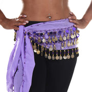 Belly Dance Small Length Chiffon Multi-Row Hip Scarf | GEELIE