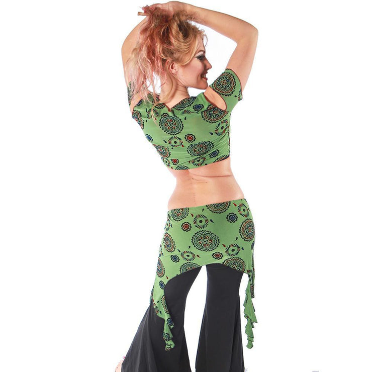 Belly Dance Top, Pants, & Hip Scarf Costume Set | PERA EMBLEMS