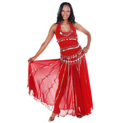 Belly Dance Top, Skirt, & Coin Belt Costume Set | SPIN OUT SEQUEL