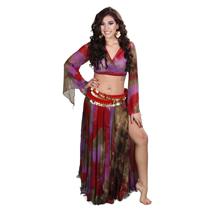 Belly Dance Top, Skirt, & Hip Scarf Costume Set | D'OR ANDA