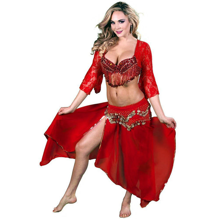 Belly Dance Top, Skirt, & Hip Scarf Costume Set | KIRA'S SONG