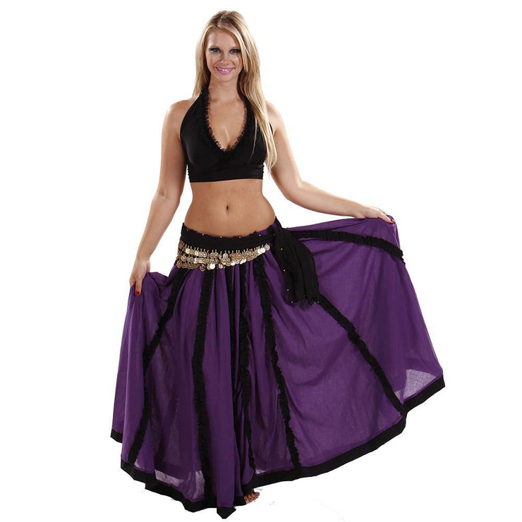 Belly Dance Top, Skirt, & Hip Scarf Costume Set | RAQS TANOR