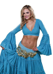 Belly Dance Tribal Bell-Sleeve Cotton Top | BELL ROMPI 2
