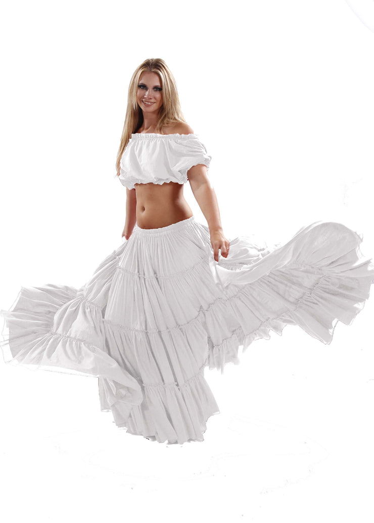 Belly Dance Tribal Cotton 25 Yard Skirt | FIERY FRILLS